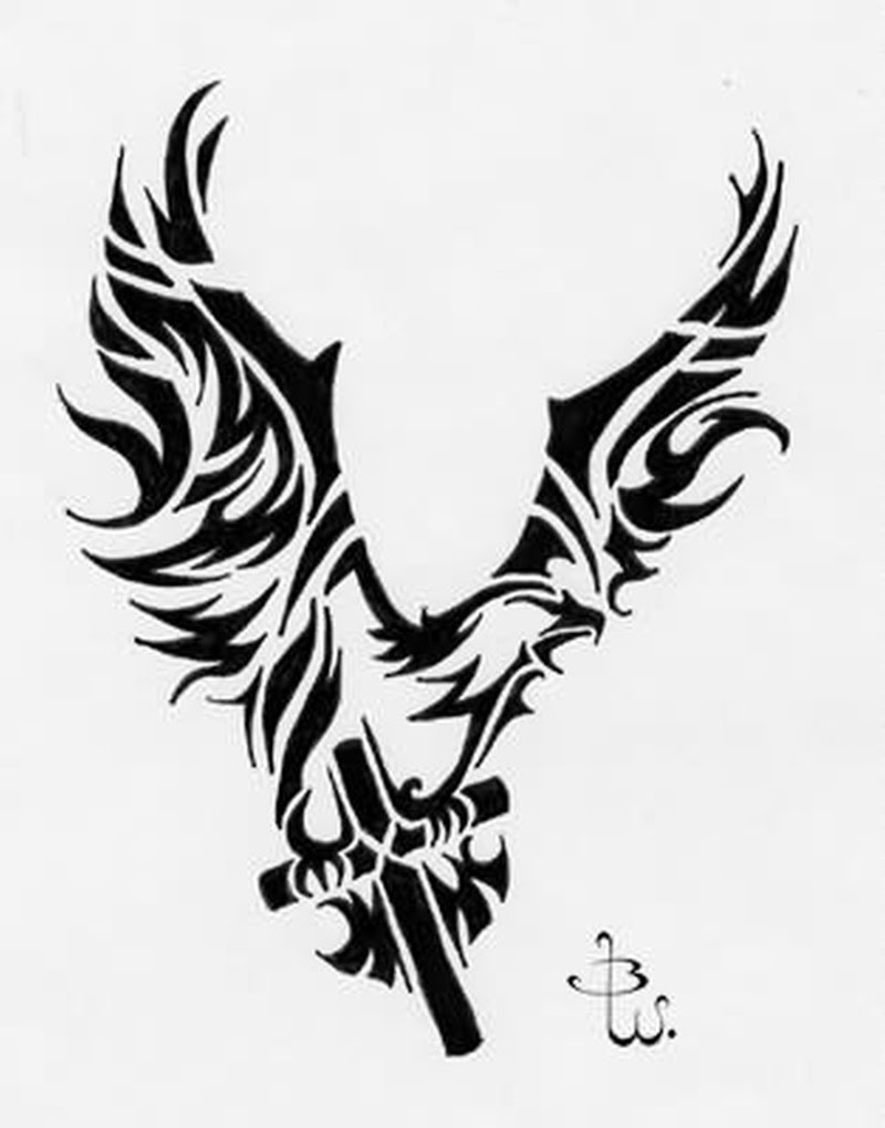 Tribal Angel Wings Cross Tattoo Tattoos Book 65000 Tattoos Designs