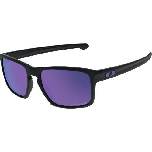 Oakley Sliver Polarized Sunglasses Matte Black/Violet Iridium