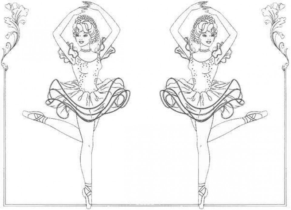 Coloring And Drawing Arabesque Ballet Coloring Pages Free