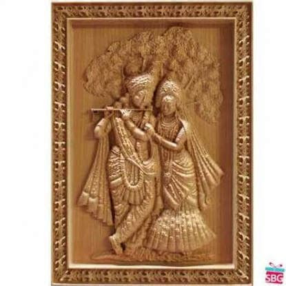 Send Radha Krishna Wood Carving online in India on Best