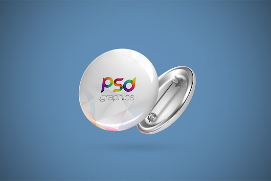 Pin Button Badge Mockup Free PSD | PSD Graphics