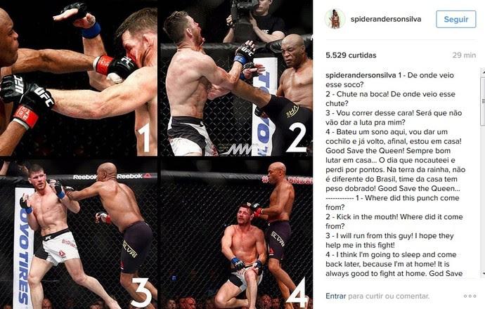 Anderson Silva post (Foto: Reprodução / Instagram)