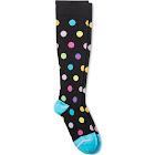 Dr. Motion Women Everyday Knee High Mild Compression Socks Black/Dots 4-10, Women's
