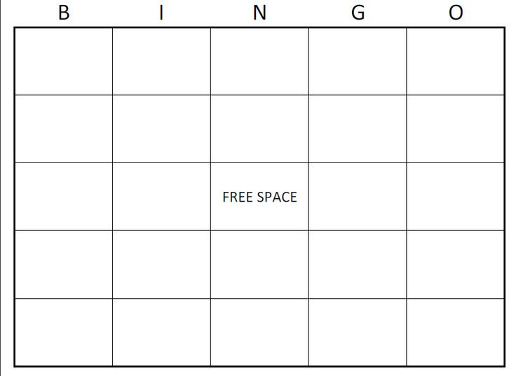 Blank Bingo Cards Printable – 2017 Calendar