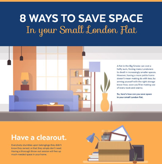 8 Ways to Save Space in Your Small London Flat - with infographic! | Vanguard Self Storage