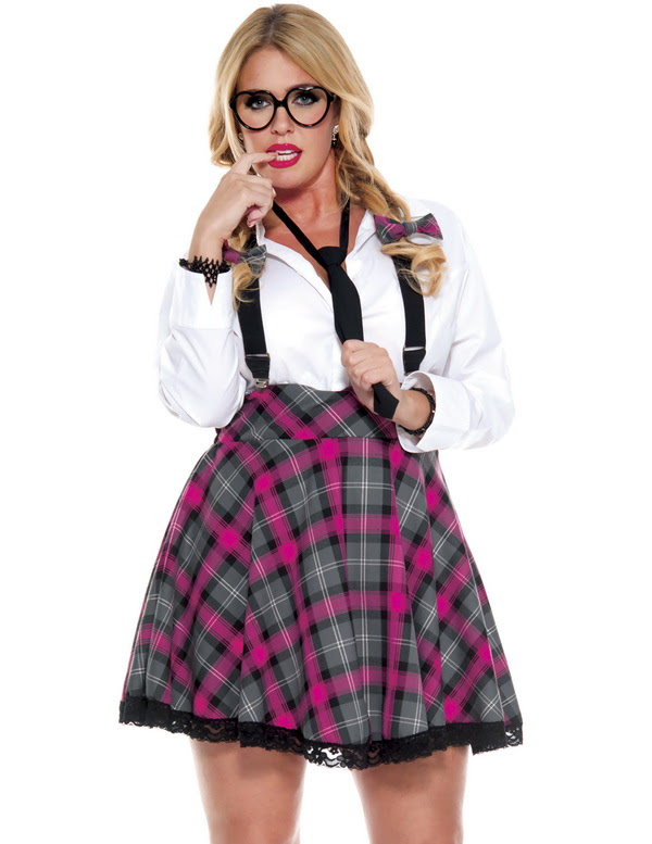 plus size role play costumes plus size sexy school girl