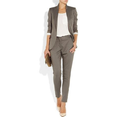 Gray 2 piece set women formal pant suits for weddings