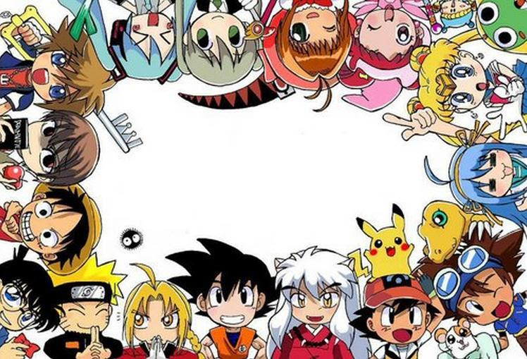 19 Beautiful Anime Character Collage