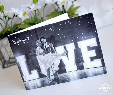 Landscape Folded Wedding Thank You Cards   WEDFEST