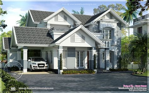 semi european style beautiful villa kerala home design