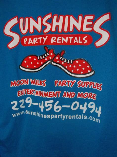 Sunshine T Shirts   Sunshines Party Rentals