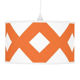 Orange Lattice on White Ceiling Lamps