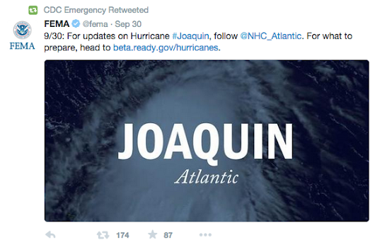 Follow Friday: Following Hurricane Joaquin - ArchiveSocial