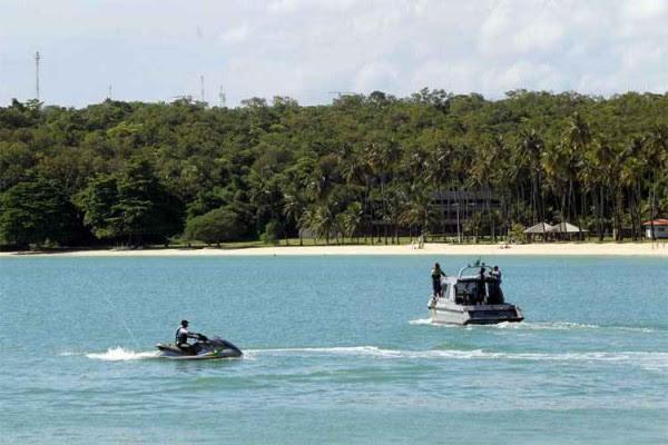 Segurança na Base Naval de Aratu, na Bahia