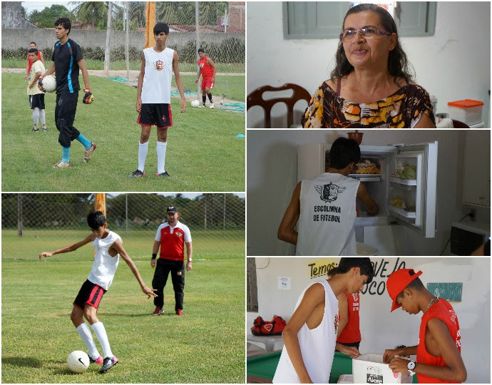Mizael Martins escolinha dindim montagem (Foto: Augusto Gomes/GloboEsporte.com)