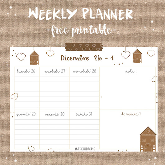 Addio weekly planner