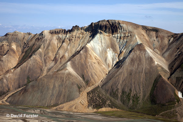 06D-1398 Temp Barmur Mountain Ridge from Kjaftalda Landmannalaugar Iceland