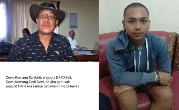 Hasil gambar untuk Penusuk anggota TNI anak anggota dewan, masih di bawah umur