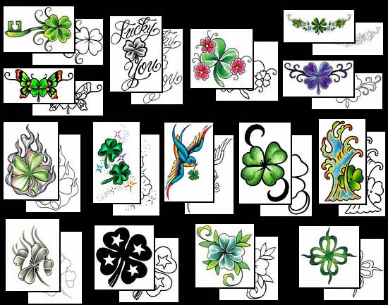 Four Leaf Clover Tattoos What Do They Mean Tattoos Designs