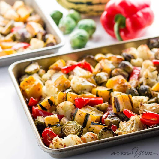 Easy Low Carb Truffle Roasted Vegetables (Paleo, Gluten-free)