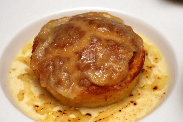 Twice baked Gruyère soufflé