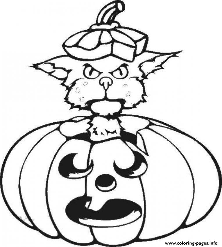 Black Cat Halloween S Printable Kids849a Coloring Pages ...