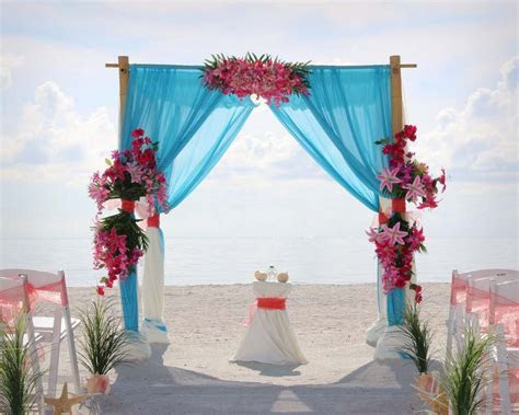 Florida Beach Weddings in Hot Pink and Cool BlueSuncoast
