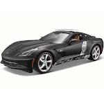2014 Chevy Corvette Stingray Police, Matte Black - Maisto 36212P - 1/18 Scale Diecast Model Toy Car