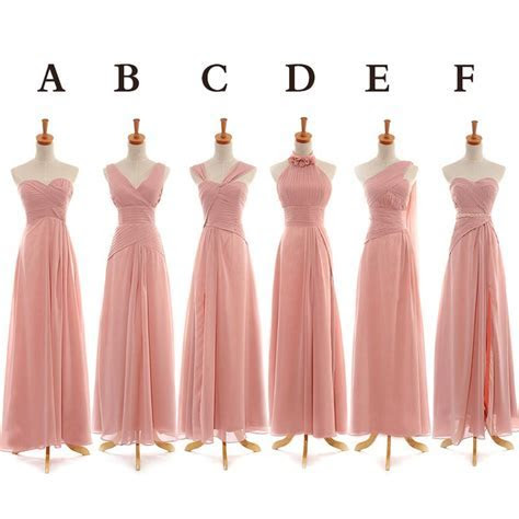 Pink Bridesmaid Dresses, Floor Length bridesmaid dress