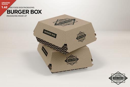 Download Free Burger Box Packaging MockUp (PSD Mockups)