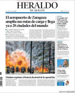 Portada Heraldo de Aragón