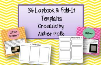 36 Editable Lapbook and Fold-It Templates by Amber Polk | Teachers ...