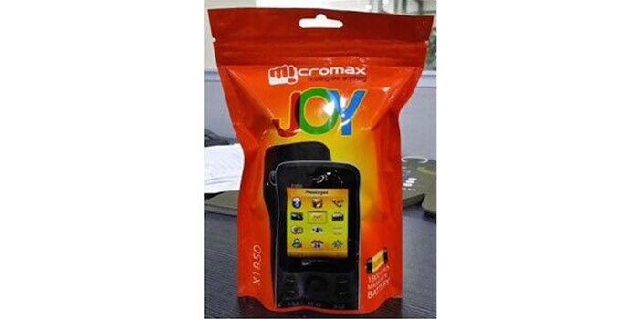 Micromax Joy X-1850 Packaging