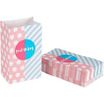 Party Treat Bags - 36-Pack Gift Bags, Gender Reveal Party Supplies, Paper Favor Goody Bags for Baby Shower, Recyclable Treat Bags - 5.2 x 8.7 x 3.3