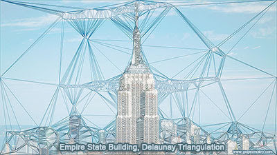 Empire State Building & Delaunay Triangulation. iPad App: Trimaginator.