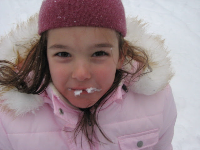 S eating snow