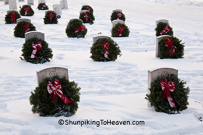 Wreaths on Veterans' Graves, Forest Hill Cemetery, Madison, Wisconsin