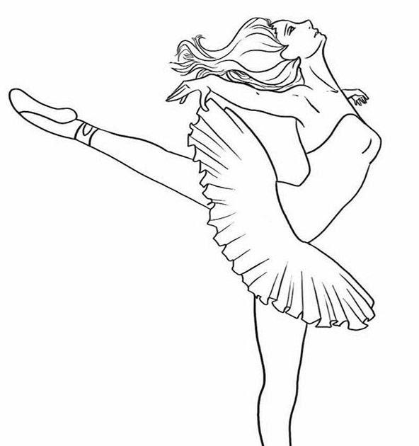 ballerina zum ausmalen  malvorlagen