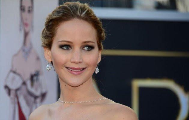 Jennifer Lawrence arrives…