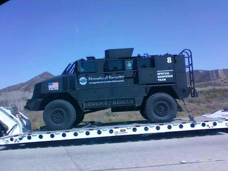 Homeland Security SRT riot truck