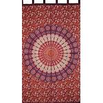 "Sanganeer Mandala Tab Top Curtain Drape Panel Cotton 50"" x 90"""