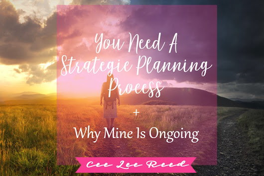 Strategic planning process is ongoing and will guide your business