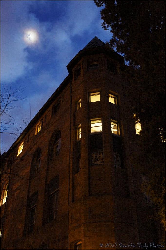 Skywatch Friday:  Moonlit Alexander Hall