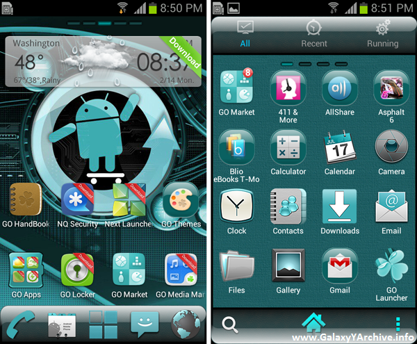 GO Launcher EX Cyanogen Mod Theme