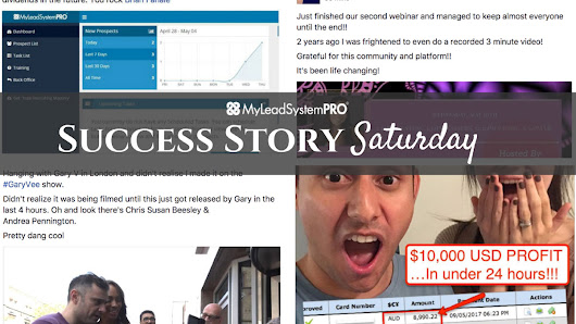 [Success Story Saturday] $5000 USD PROFIT DAY – TWO DAYS IN A ROW • My Lead System PRO - MyLeadSystemPRO