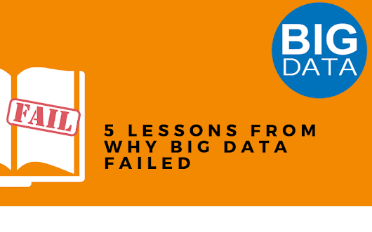 5 Lessons from Why Big Data Failed |Derek Time