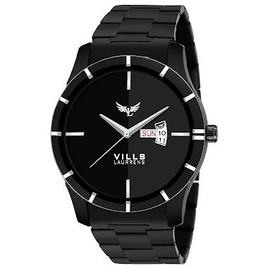 VILLS LAURRENS Analogue Men's Watch (Black Dial)