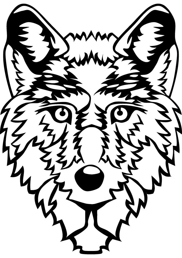 Wolf Coloring Pages | Free download on ClipArtMag