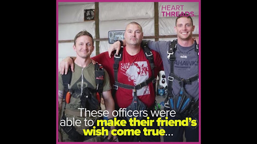 Friends help fallen officer's skydiving dream come true