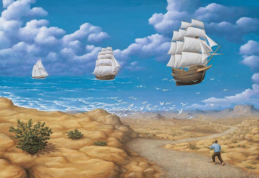 diaforetiko.gr : magic realism paintings rob gonsalves 15 8801 33 Πίνακες Ζωγραφικής με οπτικές ψευδαισθήσεις που παίζουν με το μυαλό σου.